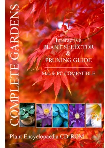 Plant Finder and pruning guide encyclopaedia 3,500 UK garden plant CD-ROM. PC & MAC compatible