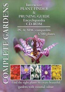 Complete Garden Multi list Plant Finder and pruning guide encyclopaedia CD-ROM. PC & MAC compatible