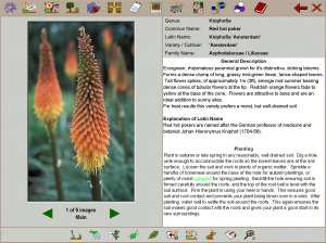 Each plants is accompanied with in-depth description, images, plant care and pruning advice plus pests, diseases and propagation tips