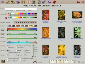Plant finder. Se;lect the right plants for your garden conditions using the right plants right time and place