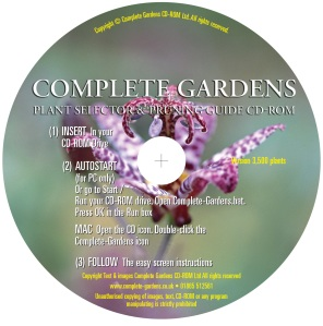 Multi list 3,500 garden plant advice encyclopaedia CD-ROM. PC compatible